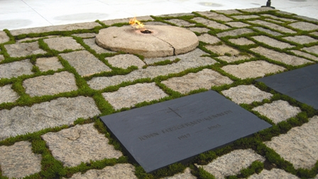 John F. Kennedy's gravesite at Arlington National Cemetery