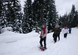 Snowshoeing on Oregon's Mt. Hood