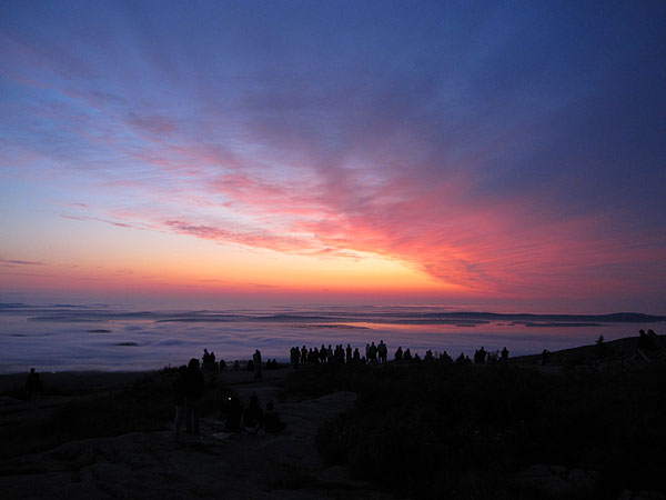 Sunrise on Cadillac Mountain, Acadia National Park, Maine