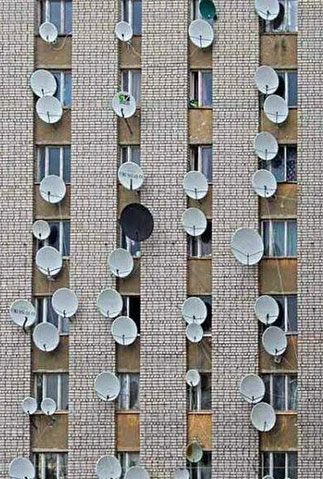 New York City satellite dishes