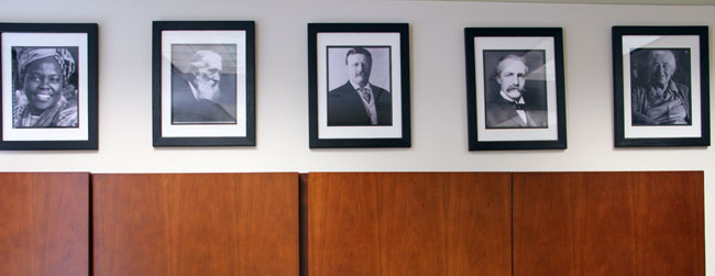 Wangari Maathai, John Muir, Teddy Roosevelt, Gifford Pinchot and Mardy Murie