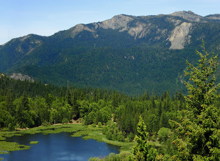 Howard Lake in California's Mendocino National Forest