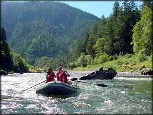 Rafting the lower rogue river