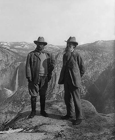 John Muir and Theodore Roosevelt in Yosemite National Park