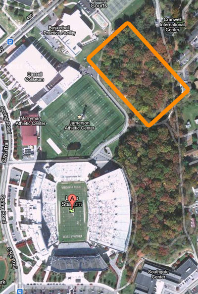 Virginia Tech's Stadium Woods