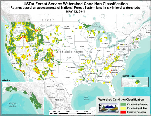 Watershed Condition Framework map