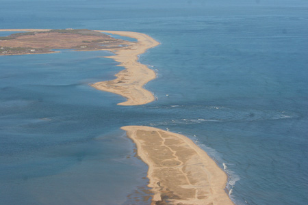 The breach of North Point Beach on April 20, 2007