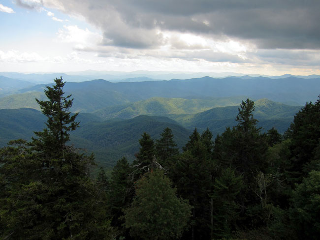View from Mount Sterling in Great Smoky Mountains National Park