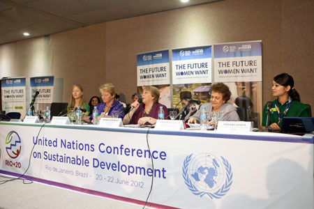 Panelists at the Rio+20 UN Women Leaders Forum