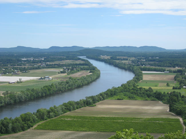 Farms along the Connecticut River