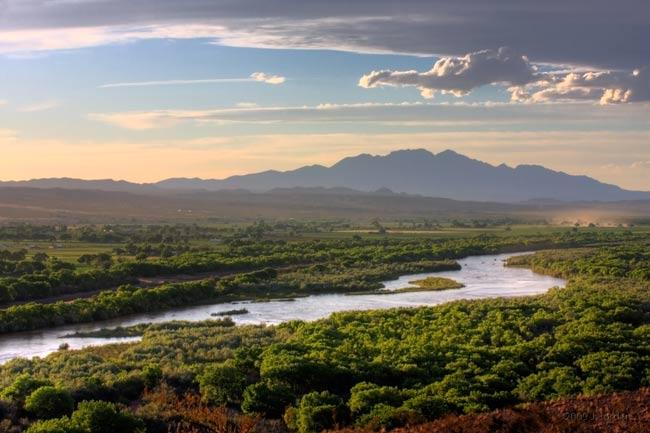 The Rio Grande valley.
