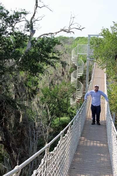 Manager of forest restoration, Seth Menter, in Lower Rio Grande Valley National Wildlife Refuge