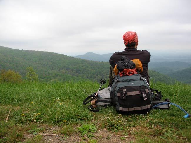 A view along the Appalachian Trail in Shenandoah National Park.