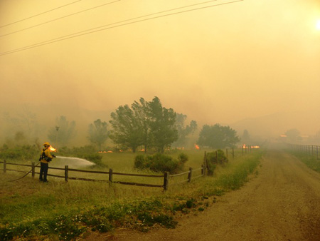 High Park Wildfire in Arapaho and Roosevelt National Forests and Pawnee National Grassland