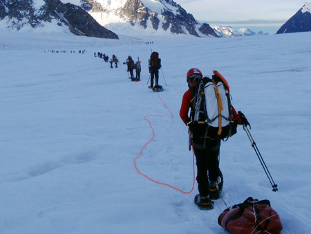 Members of another Wounded Warrior mountain-climbing trek: the 2011 Combat Wounded Warriors Denali expedition