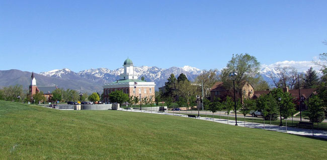 Council Hall and White Memorial Chapel, Salt Lake City, Utah, completed in 1866 and 1883 respectively