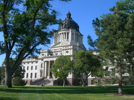 South Dakota State Capitol, Pierre, South Dakota, which was constructed between 1905 and 1910