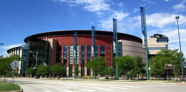 The Pepsi Center is home to the Denver Nuggets and Colorado Avalanche. Credit: Wally Gobetz