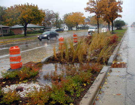 Bioswales. Credit: City of Milwaukee