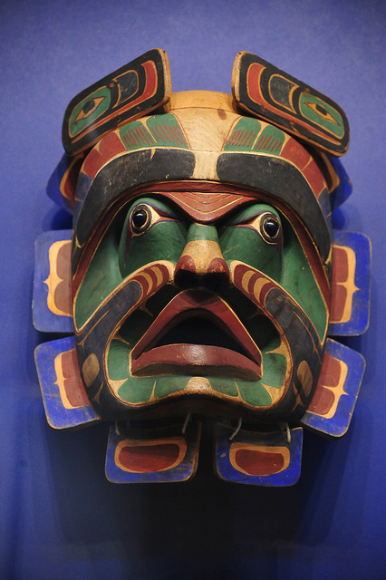 Northwest Coast Indian dance mask. Credit: asterix611/Flickr