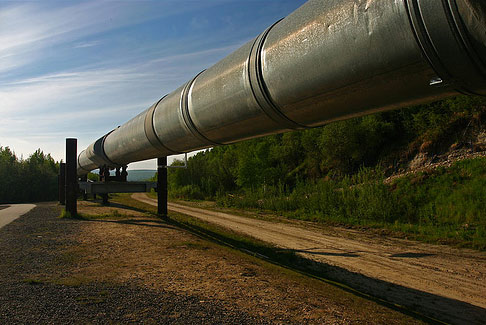 Section of the Trans-Alaska Oil Pipeline