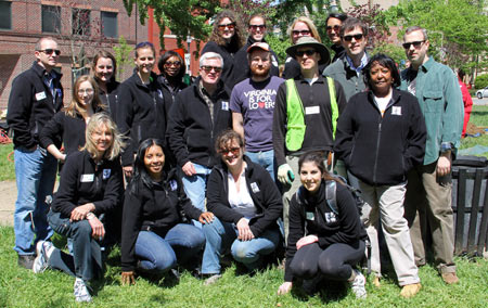 American Forests staff members after planting trees in Washington, D.C.