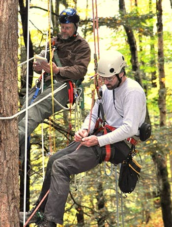 NTS members Bart Bouricius (left) and Will Blozan (right) during a climb.