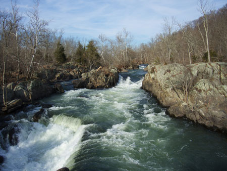 Great Falls Park in January 2013