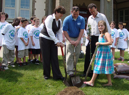 An American Forests and Scotties tree planting event in 2011