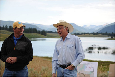 Greg Neudecker and Secretary of the Interior Ken Salazar
