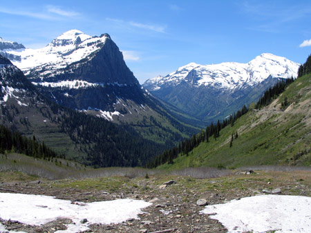 Looking westward from a part of Glacier National Park's Going-to-the-Sun Road called Big Bend, just west of Logan Pass