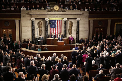 President Barack Obama delivers the State of the Union address