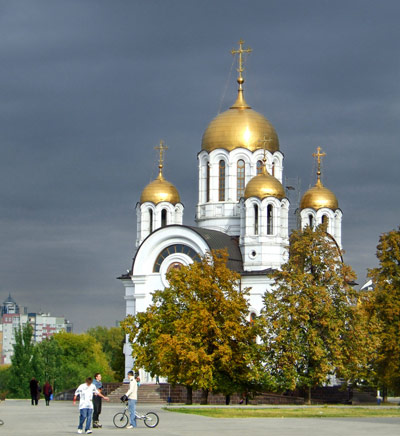 An orthodox church in Samara, Russia