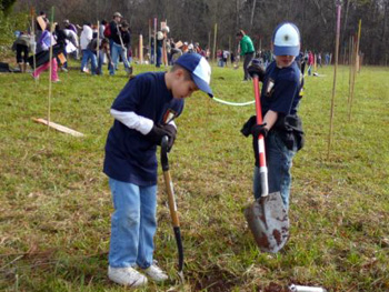 American Forests and Scotties tree planting event