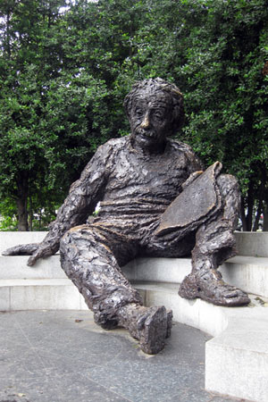 The Einstein Memorial on the grounds of the National Academy of Sciences, Washington, D.C.