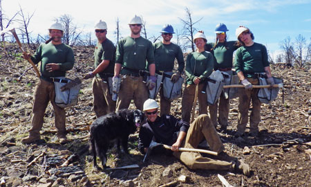 Nevada Conservation Corps crew members