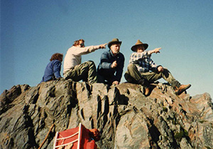 Byrd, Carter and Crowell at Charlies Bunion looking at Mount Le Conte. Photo: Mark and Carol McCall.