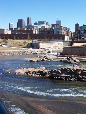 South Platte River and Cherry Creek in Denver, Colo.
