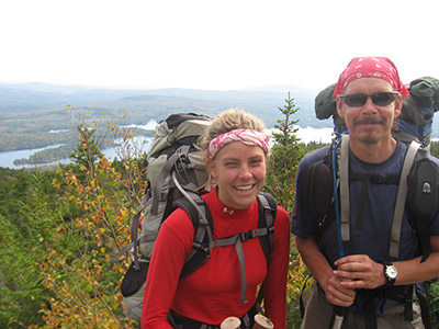 Zero/Zero met Rocks Locks on the trail and they hiked together for many miles. Photo courtesy of the Appalachian Trail Conservancy.