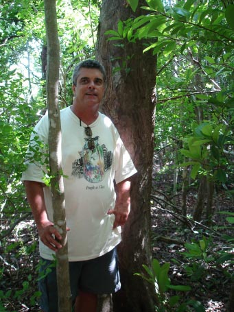 Bob Showler with the national co-champion inkwood in Everglades National Park.
