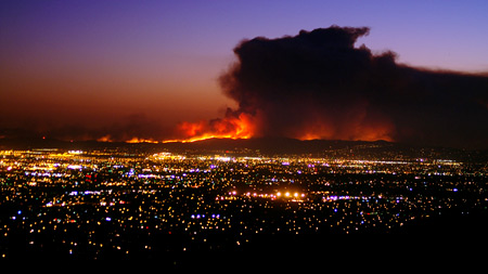 The 2008 Freeway Complex Fire in Riverside County, Calif.