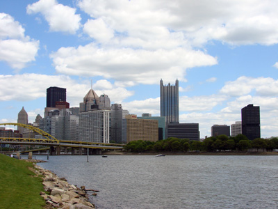 View of Pittsburgh from the Three Rivers Heritage Trail