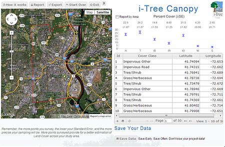 i-Tree Canopy screenshot. Credit: i-Tree