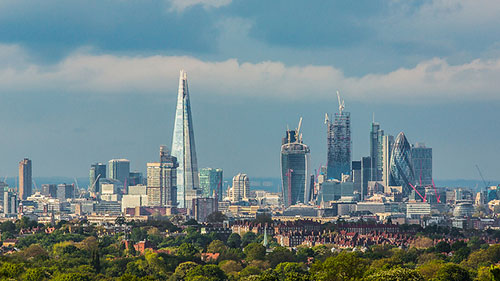 London's urban forest and skyline