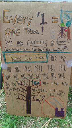 Raising money to plant trees