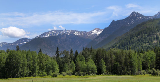 Cabinet Mountains from Bull River Road, Kootenai National Forest