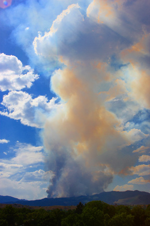 Smoke plume for the Waldo Canyon Fire
