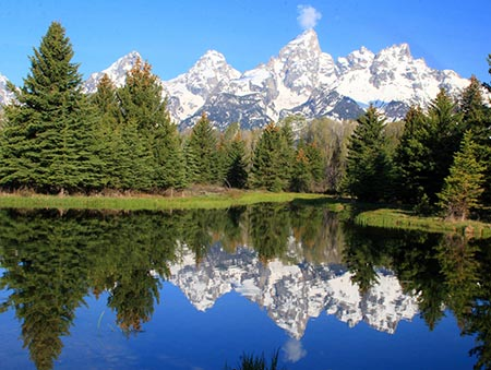 Reflection of the Tetons at Schwabacher Landing.