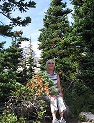 Ruth Wilson at Mount Rainier, Wash.