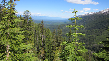 The view from Richmond Peak, Mont., with Bob Marshall Wilderness to the right
